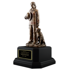 Female Firefighter Statue