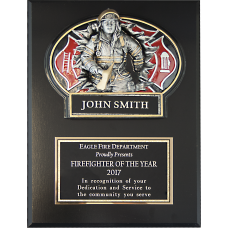 """Breaking Through"" Firefighter Plaque"