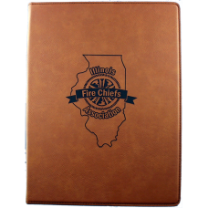 IFCA Zippered Leatherette Padfolio