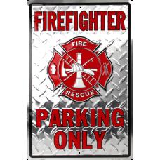 Firefighter Parking Sign