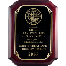 Piano Finish Firefighter Plaque