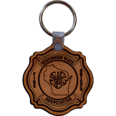 WSFCA Leather Keychain