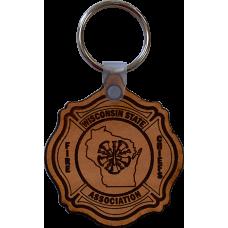 WSFCA Leather Keychain