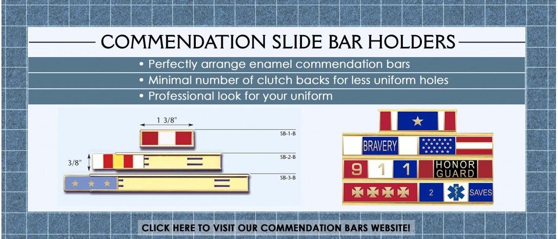 Commendation Bars Slide Holders