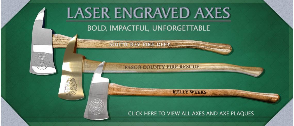 Laser Engraved Axe
