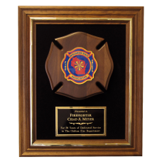 Framed Maltese Cross Plaque