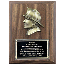 Firefighter Head Plaque