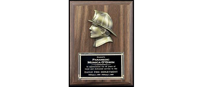 Firefighter Head Plaque