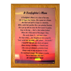 Firefighter Mom Plaque