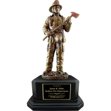 Prepared Firefighter Statue