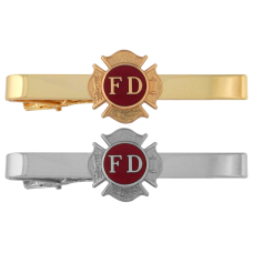 Express Ship Firefighter Tie Bar with Maltese