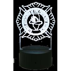 Light Up IAFPD Logo Acrylic