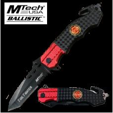 Red and Black Split Firefighter Knife