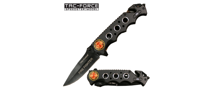 Black Firefighter Knife