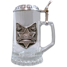 Law Enforcement Award Lidded Stein