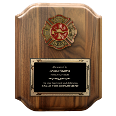 Scalloped Firefighter Plaque