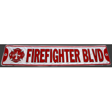 Firefighter Boulevard Sign