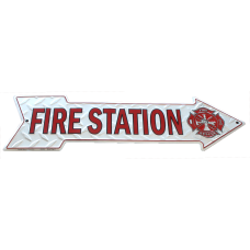 Fire Station Arrow Sign