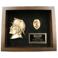 Firefighter Shadow Box