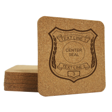 Law Enforcement Cork Coaster