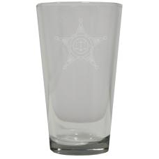 Law Enforcement Beverage Glass