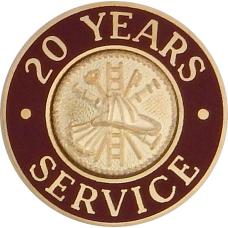 Round Firefighter Service Pins