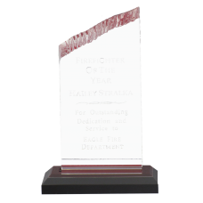 Chisel Top Acrylic Firefighter Award