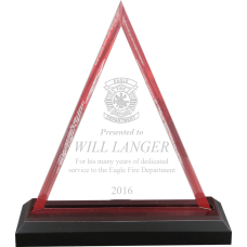 Peak Acrylic  Firefighter Award