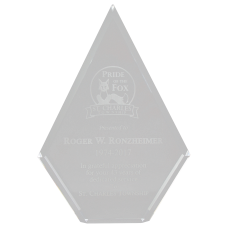 Clear Acrylic Diamond Police Award