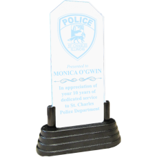 Lighted Acrylic Police Award
