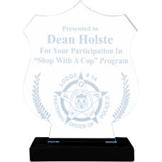 Shield Acrylic Police Award