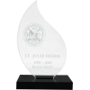 Small Flame Acrylic Firefighter Award