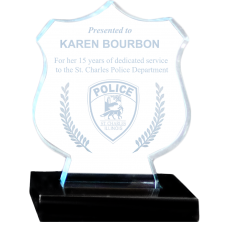 Small Shield Acrylic Police Award