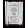 Acrylic Channel Mirror Firefighter Award