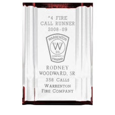 Acrylic Channel Mirror Firefighter Award