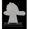 Small Fire Helmet Acrylic Award