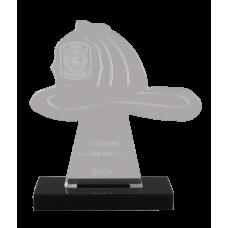 Fire Helmet Acrylic Award