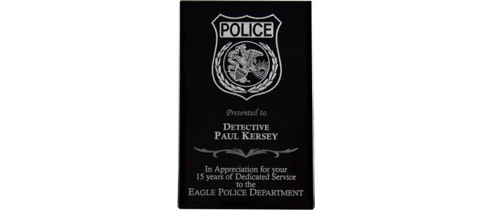 Marble Wedge Police Award