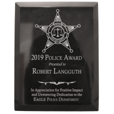 Black Marble Police Plaque Award