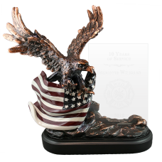 Bravery Eagle Award with Glass