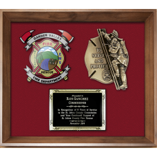 Framed Display Award - Firefighter Casting