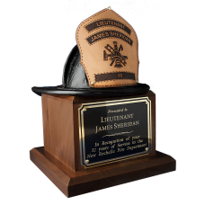 Leather Fire Helmet Award