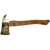Small Polished Brass Firefighter Axe