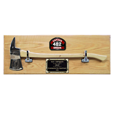 "28"" Chrome Firefighter Axe Plaque"