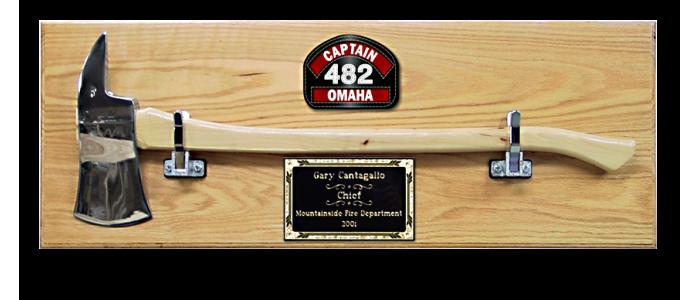 "28"" Chrome Firefighter Axe Plaque"