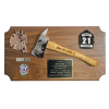 Medium Firefighter Axe Plaque