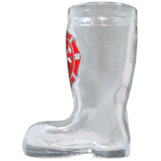 Fire Rescue Boot Shot Glass