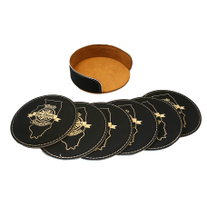 IFCA Six Piece Leatherette Coaster Set