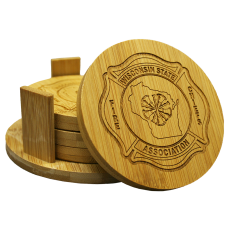 WSFCA Wood Coaster Set