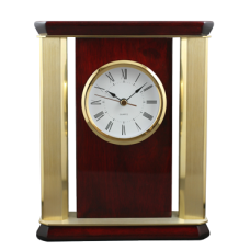 Golden Pillars Clock